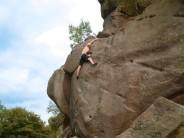 Mike Birkenstock soloing The Sprain at Black Rocks