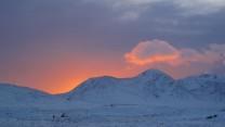 black mount sunset
