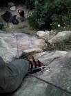 Looking down 'Elephant on Rollerskates'