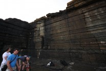 Wide shot of lower wall at Auckengill