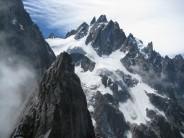 Climbers on summit of Petit Charmoz