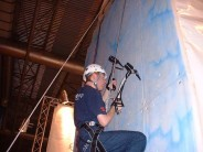 Ice Climbing at the Outdoors Show 2004