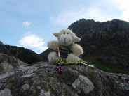 Mark the invincible lamb topping out on the arete