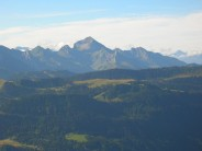 Mont Charvin 2409 m in the Massif des aravis seen from summit of Le Suet 1863 m
