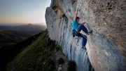 Ed finishes off Carte Blanche in the evening light<br>© Dirk Smith