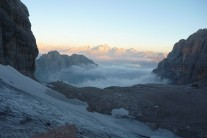 Dawn at Rifugio Alimonta