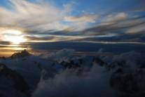 Aiguille du Midi at sunset