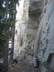Sport climbing at Medji (Zermatt valley)