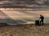 Peter on the summit of Skiddaw<br>© Nicholas Livesey