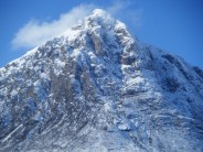 Close up of Buachaille Etive Mor, South-East and North-East Faces in winter.