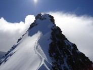 Approaching the summit of Dufourspitze