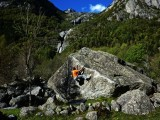Bouldering at beautiful Mello<br>© andybirtwistle