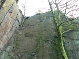 Right wall of The Roost Quarry<br>© was