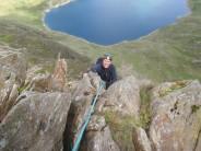 Towards the top of Slanting buttress ridge.