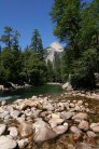 North Dome from the Merced River
