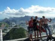 Just after climbing Sugar Loaf in Rio.