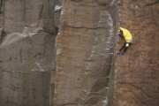 A banana on the First Fruit Ascent (FFA) of Master's Edge<br>© joemallia
