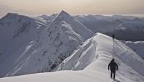 Heading onto the Devils Ridge