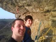 Me and Jonny at the belay of Osiris