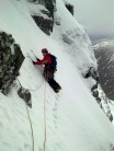 Mike on traverse of South Gully