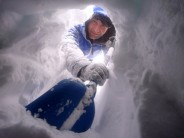 Being dug out of a snowhole in Ciste Mhearaidh