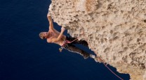 "Mark McGowan on the 1st Ascent of ""Spunky Arete"" at Wied Mielah in Gozo"