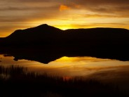From Loch Ossian Youth Hostel after a weekend's running.