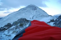 Winter bivy on the Buttermere fells