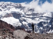 The massive South Wall of Aconcagua