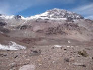 Plaza de Mulas under the West Face of Aconcagua.