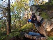 Al on Sub Rocc, Froggatt Woods