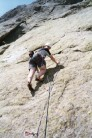 Me, on Pitch 1 , Voie Bleu (5c)