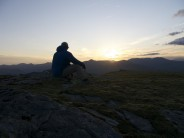 wild camping sunset on the shoulder of Beinn Dorain