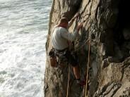 Geoff setting out on SEA MIST - Pembroke