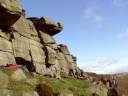 Unknown climber on Impossible Slab at High Neb.