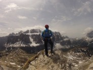 Looking out over the Sella Massif.