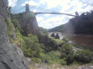 View from the Ampitheatre area - Suspension Bridge Arete clearly visible