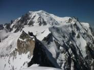 The midi Plan ridge, taken from the summit of the Midi Plan