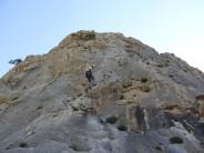 Abseiling fron Sierra de Toix