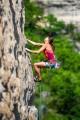 Nina Caprez, a Petzl Rock Team athlete as seen on the crags of Millau, France.<br>© www.alpine-photography.com