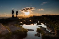 Walkers on Stanage