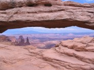 Canyonlands Arch and the Colorado river valley