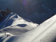 The descent from the Aiguille du Midi cable car station.