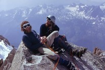 Colin and Harry on the top of the Chardonnet.