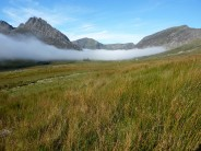 Morning mist in the Ogwen Valley