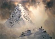 Suilven East Ridge (watercolour painting)