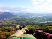 Flint and me on Suilven, a perfect moment