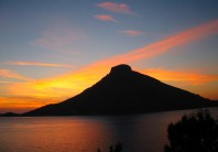 Sunset over Telendos