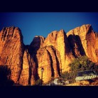 Evening sun on the crags in Riglos