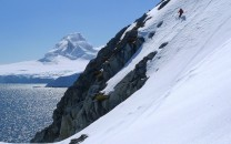 Descending from Bruce Island Pk. Antarctic Peninsula